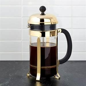 French Press Kaffeepulver : bodum gold french press reviews crate and barrel ~ Orissabook.com Haus und Dekorationen