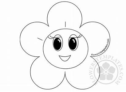 Smiley Face Flower Coloring Flowers Spring Flowerstemplates