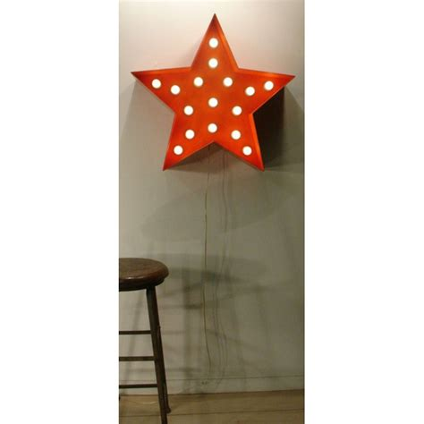 orange metal star decor light very large and showy