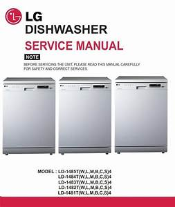 Lg Ld-1482w4 Dishwasher Service Manual And Repair Guide