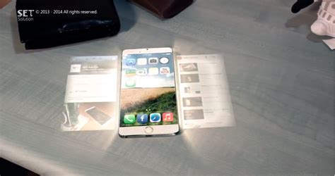 holographic iphone  concept  dream video iphone