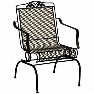 Wrought iron chair chairs seating for Patio furniture covers makro
