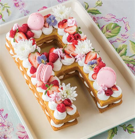 letter cake trend  pan fancy flours  bakers