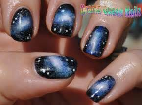 Drama queen nails galaxy tutorial