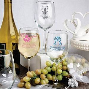 12 oz custom printed white wine glass wedding favors With wine glass wedding favors