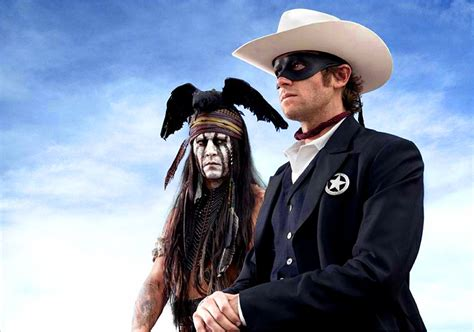 news look at johnny depp armie hammer in the lone ranger