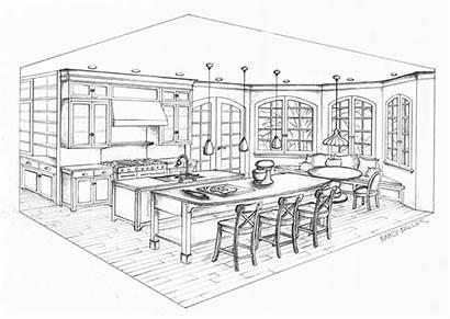 Perspective Kitchen Rendering Behance