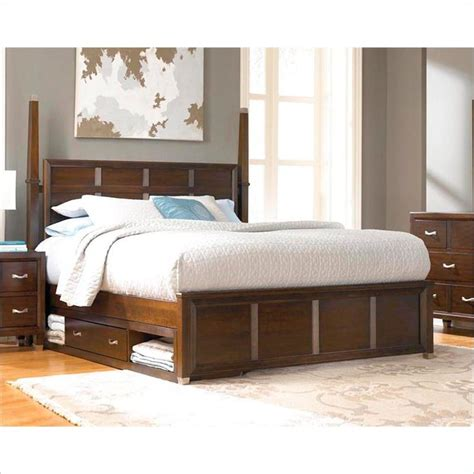 Cymax Bedroom Sets by Broyhill Eastlake 2 Poster Sinlge Underbed Storage Bed In