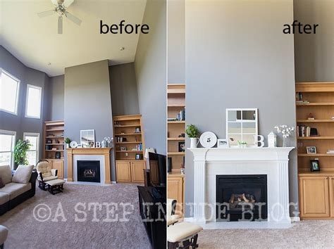 fireplace mantels another mantel before after painting maple wood a