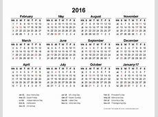 2016 Accounting Period Calendar 445 Free Printable