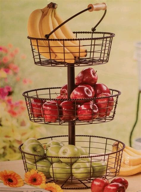 image result  kitchen  storage basket fruit