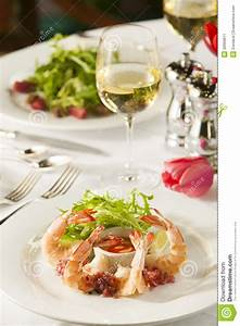 Fancy Shrimp Cocktail Appetizer. Stock Image - Image: 30999811