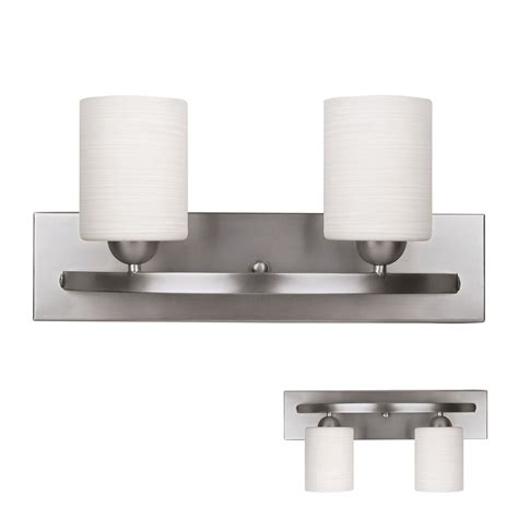 Bath Vanity Light Fixtures by Brushed Nickel 2 Globe Vanity Bath Light Bar Interior