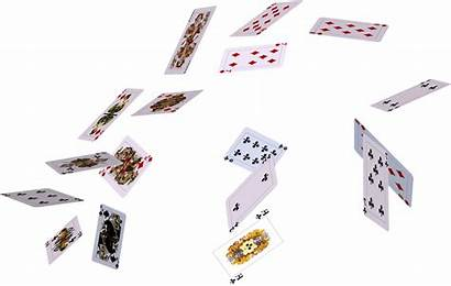 Cards Playing Flying Graphic Transparent Pluspng Psd