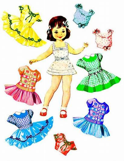 Clothes Doll Paper Clipart Clip Putting Collage