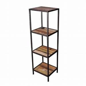Etagere Metal Cuisine : etag re 3 niveaux bois m tal loft achat vente meuble ~ Premium-room.com Idées de Décoration