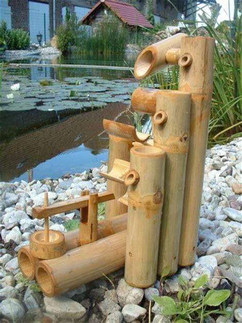fontaine bambou cascade jeu d eau d 233 coration jardin patio tha 239 lande 12030 ebay