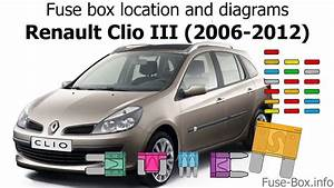Fuse Box Location And Diagrams  Renault Clio Iii  2006-2012