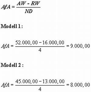 Wiederbeschaffungswert Berechnen : investitionsrechnung investitionsrechnung mit restwert ~ Themetempest.com Abrechnung