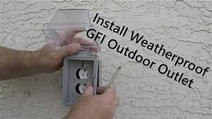 How To Install An Exterior Outlet On A Foundation And Tie