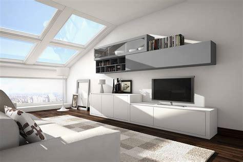 mueble de salon blanco  gris muebles xikara