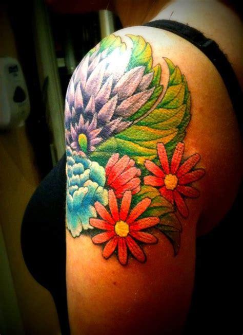 upper arm flower tattoo tattoos   pinterest