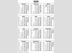 2020 calendar 1 Download 2019 Calendar Printable with