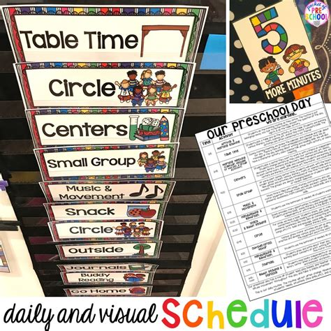 preschool daily schedule and visual schedules pocket of 107 | Slide13 1 1