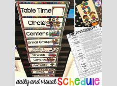 Preschool Daily Schedule and Visual Schedules Pocket of