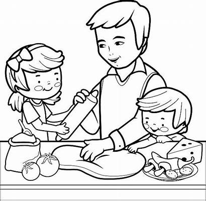 Cooking Coloring Kitchen Vector Class Clip Children