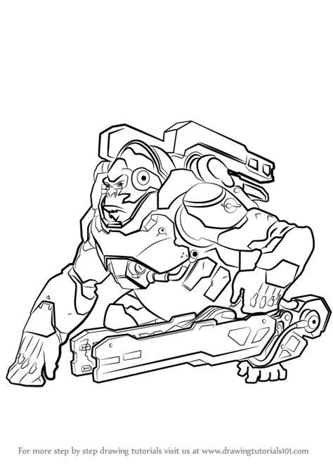Kleurplaat Overwatch Doomfist by Learn How To Draw Winston From Overwatch Overwatch Step