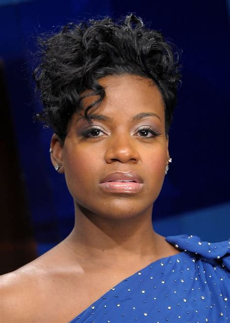 Fantasia Barrino Edgy Short Black Curly Hairstyle for