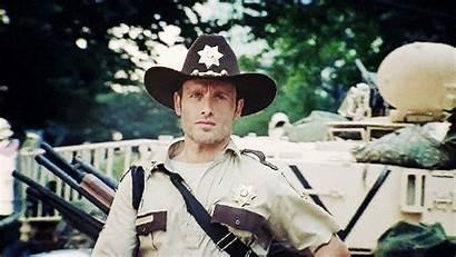 Rick Grimes Season Dead Walking Lincoln Andrew