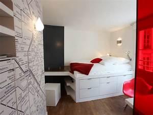 un studio de 16m2 plein d39ingeniosite maisonapart With comment meubler un petit studio 0 comment optimiser lespace dun petit logement d