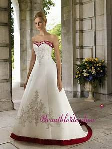Brautkleid Mit Farbe : brautkleid rot weiss ~ Frokenaadalensverden.com Haus und Dekorationen