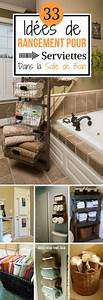 Panier De Rangement Salle De Bain : 33 id es de rangement pour serviettes dans la salle de bain chasseurs d 39 astuces ~ Teatrodelosmanantiales.com Idées de Décoration