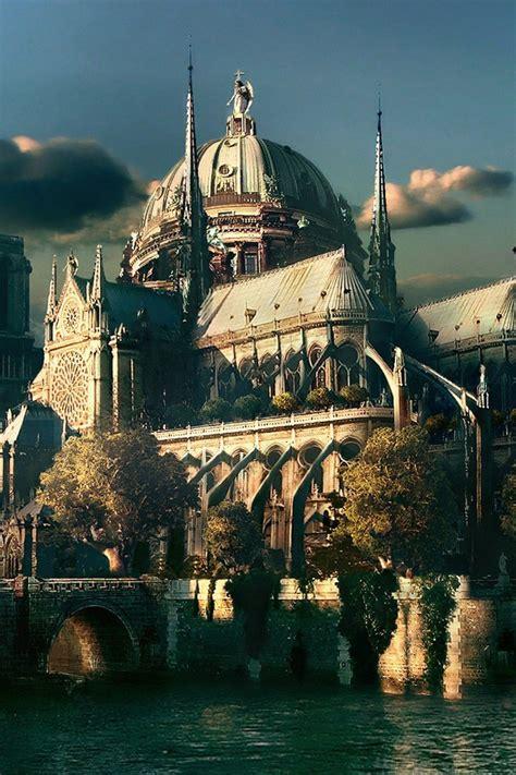 cgfantasy notre dame cathedral paris ipad iphone hd wallpaper