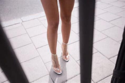 Shoes: clear shoes, plastic heels, high heels, heels