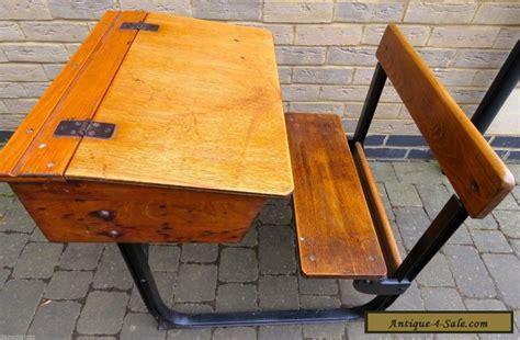 vintage antique wooden child s school desk integrated