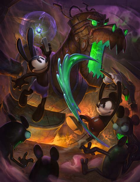 Disney Epic Mickey 2 The Power Of Two Concept Art By