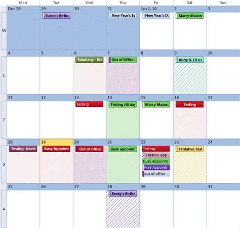 Outlook 2013 Background Color Understanding Outlook S Calendar Patchwork Colors