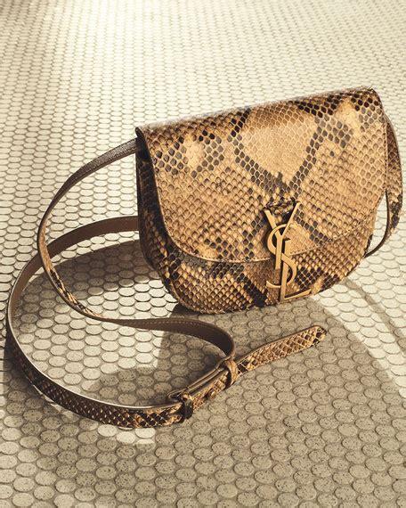 saint laurent kaia small monogram ysl python crossbody bag