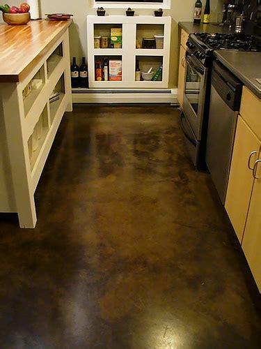 Loft concrete floor   Acid dyed concrete   becoming