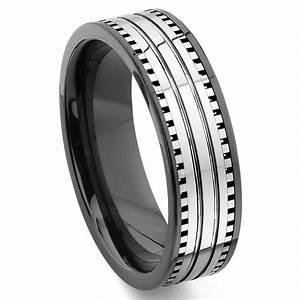2nd Generation Tungsten Carbide Two Tone Milgrain Wedding
