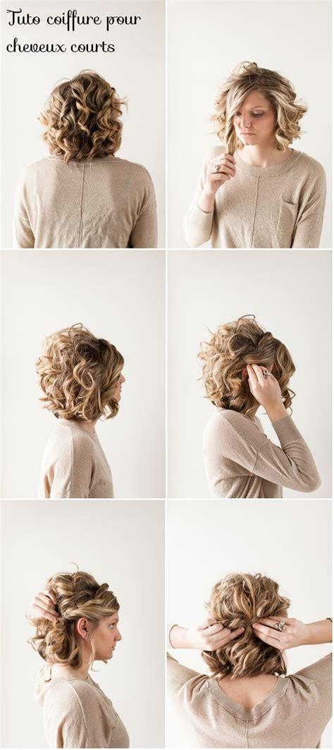 coiffure cheveux courts femme tuto