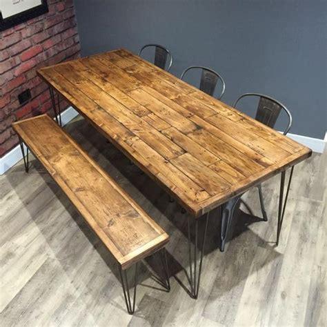reclaimed industrial pallet wood dining table metal