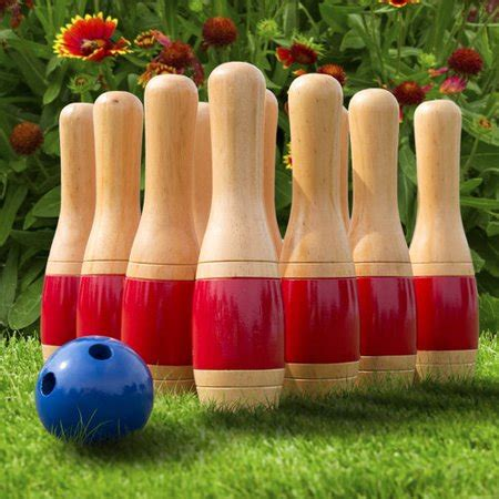 hey play  wooden lawn bowling set walmartcom