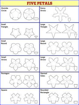 Clam Shell Templates Lapbook by Interactive Notebook Templates Easy To Cut Petal Pack
