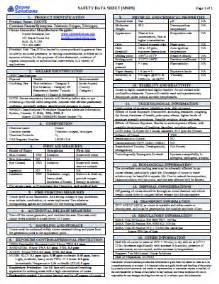 SDS Safety Data Sheet Example