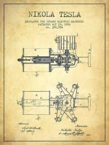 Nikola Tesla Light Bulb by Nikola Tesla Patent Drawing From 1886 Vintage Digital